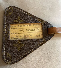 Rare MRS WOOY DONAHUE (MHD) Vintage Louis Vuitton Monogram Triangle Luggage Tag