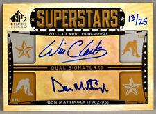 12 UD SP Signature Edition Will Clark Don Mattingly MLB AUTO #13/25 2012