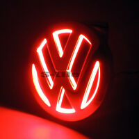 RED Illuminated 5D LED Car Tail Logo Light Badge Emblem For Volkswagens Tiguan