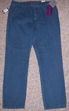 GLORIA VANDERBILT Blue Denim Leighton Fit Slim Leg Trouser Jeans Size 12P NWT