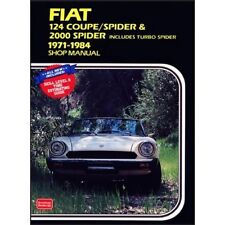 Fiat 124 Coupe Spider & Spider Shop Manual 1971-1984 book paper