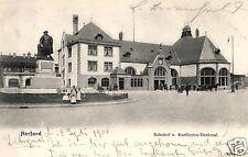 4817/ Foto AK, Herford, Bahnhof, 1904