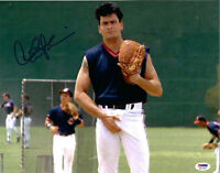 Charlie Sheen Autographed 11x14 Major League Vaughn Grab Signed Photo - PSA/DNA