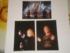 sheila (en concert) 3 photos inedites 10 cm sur 15 cm  /reglement par cheque