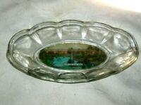 A Vintage Australian Souvenir Clear Glass View Ware Dish Macquarie River Dubbo