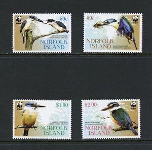C849  Norfolk Island  2004   birds   WWF   4v.      MNH