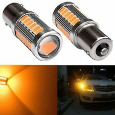 2x 1156 BA15S P21W 33 SMD LED Daytime Running Light Amber Orange Yellow Bulb