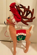 """New Annalee Mobilitee Doll Poseable 16"""" Peppermint Reindeer 2007"""