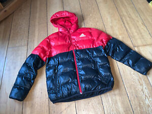 Boys Black & Red ADIDAS Coat With Hood 13-14 Years