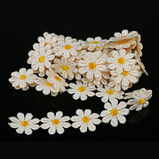 1 Yard Daisy Embroidered Lace Trim Flower Sewing Wedding Ribbon Applique DIY