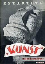 ENTARTETE KUNST: 2 Exhibition Guides with Original Entrance Ticket