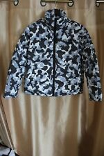 Hugo Boss Men's Puffer Jacket Biron Size M White Camo Polyester Red Label