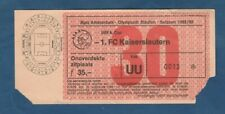 Orig.Ticket  UEFA Cup 1992/93  AJAX AMSTERDAM - 1.FC KAISERSLAUTERN  1/8 FINALE