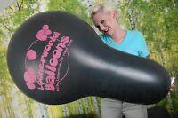 "1 x LOONERWORLD Cattex 32"" XXL-NECK Luftballon *schwarz*black*logo*looner*"