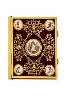 Orthodox Velvet & Gold Embroidered Gospel with Icons