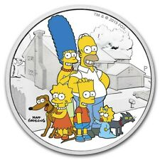 2 oz silver proof The Simpsons Family! .9999 Pure/Fine Limited Bart Maggie Homer