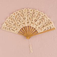 Antiqued Lace Hand Fan Ivory Vintage Wedding Bridal Accessory Weddingstar