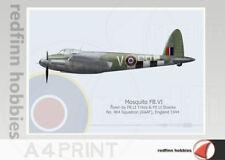 Warhead Illustrated Mosquito FB.VI 464 Sq RAAF  SB V A4 Aircraft Print