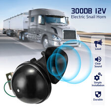 300DB 12V Loud Electric Snail Horn Air Horn Raging Sound For Car SUV Truck Boat