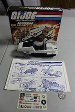 RARE VTG 1983 GI Joe Polar Battle Bear Complete Blueprint Box MINT used Decals