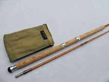 "Superb Hardy The ""County"" 8'6"" Palakona Split Cane Spinning Fishing Rod + Bag."