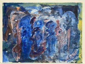 "Salvador Benitez, Puerto Rico Art, Original Art, 22"" x 30"", 1991, Signed"