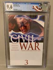 Civil War #3 CGC 9.6 NM+ Custom Cap Label!