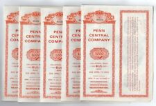 Lot of 5 - Penn Central Company Bonds