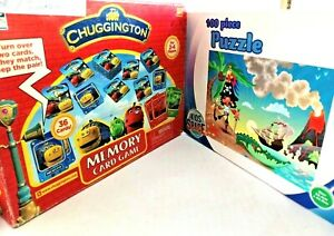 Chuggington Game & Pirate Jigsaw Puzzle Suit 3+ & 6 years Cardboard