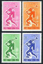 Viet Nam South 185-188, MNH. WHO drive to eradicate Malaria.Mosquito,Emblem,1962