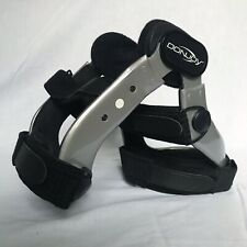 NICE! DonJoy Defiance ACL PCL CI Knee Brace Silver Right Medium Carbon Support!