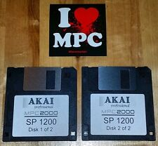 E-MU SP-1200 Sounds for Akai MPC 2000 2000XL Drum Kit Sample Pack 2 Floppy Disks