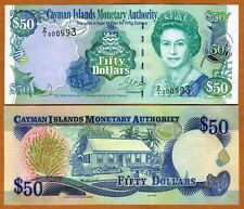 Cayman Islands, $50, 2001, P-29r, QEII, UNC > Replacement