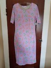 LULAROE Women's S JULIA Lavender Floral Blue Birds Polyester Spandex Dress