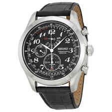 Seiko Neo Classic Perpetual Chronograph Black Dial Men's Watch SPC133