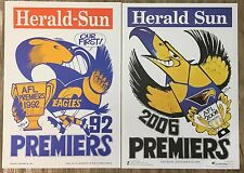 1992 And 2006 West Coast Eagles Premiers Posters Original WEG - MINT CONDITION!