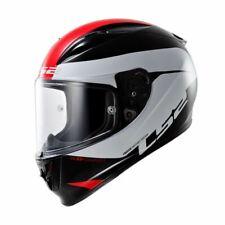 LS2 FF323 Arrow R Comet Full Face Motorcycle Helmet Black White Red - L / Large