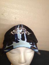 Jesse James Monster Garage Vintage Blue Flames Ball Hat Cap Discovery Channel