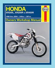 MAN2219 Haynes Manual for Honda XR XR250 1986-24 & XR4001996-04