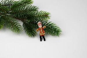 Antique spun cotton bisque and chenille Christmas Ornaments,Santa. Germany.