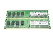 Lot of 2 Crucial PC2-5300 2GB DIMM 667 MHz DDR2 SDRAM Memory (CT25664AA667)