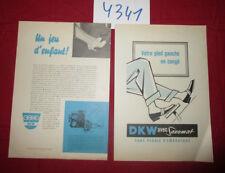 N°4341 /  prospectus DKW avec Saxomat : texte français 1958