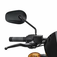 Black Motorcycle Rearview Mirrors Long Stem For Harley Davidson Sporster Touring
