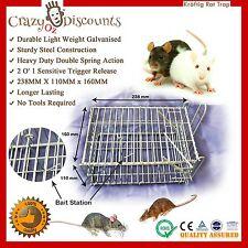 2x Humane Rat-trap Cage Live Animal Pest Rodent Mice Mouse Control Bait Catch