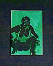 Green and Black Fantasy Woman; Corset; Heels; Smoking