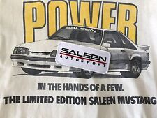 VINTAGE ORIGINAL SALEEN AUTOSPORT EMBROIDERED PATCH MUSTANG 5.0 FOX BODY SHELBY