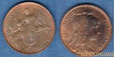 III République, 1871-1940 – 10 Centimes Daniel-Dupuis 1912 Etoile SUP +++