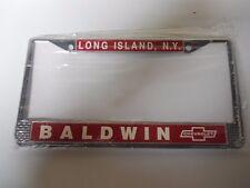 BALDWIN MOTION CHEVROLET  LICENSE PLATE FRAME  CAMARO, CHEVELLE, NOVA