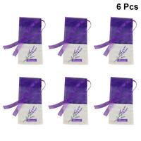 6X Empty Sachets Bag Flower Printing Fragrance Lavender Sachet Bag Purse