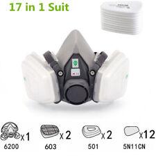 3M, 17 IN 1, 6200 Half Face Reusable Respirator For Spraying & Painting, MEDIUM